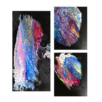 Angela Schiappa - Star Dream Mixed Media on Canvas, Mixed Media