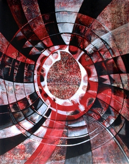 Dar Wolfe - Life Circle Acrylic on Canvas, Paintings