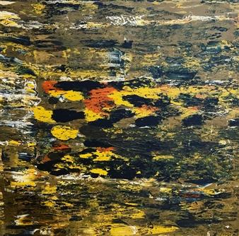 Ulrich T. Grabowski - Autumn Tracks Acrylic on Canvas, Paintings