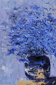 Olena Bogatska - Azure Oil on Canvas, Paintings