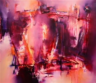 Bimbi Larraburu - Y Un Día fué el Fin Oil on Canvas, Paintings
