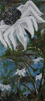Anne E Chamness - White Spikes Acrylic on Canvas, Paintings