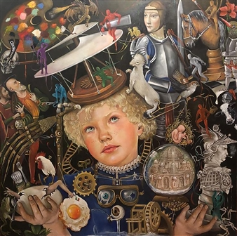 Rosana Largo Rodríguez - The Dream of Flying Oil on Canvas, Paintings