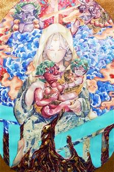 Xiao daCunha - Family Tree Mixed Media on Canvas, Mixed Media