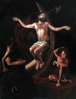 Federico Kampf - Cristo del Cuerno Oil on Canvas, Paintings