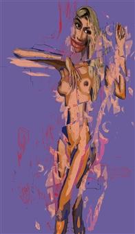 José Talamás Abularach - Nude 2 Mixed-Media Assemblage, Mixed Media
