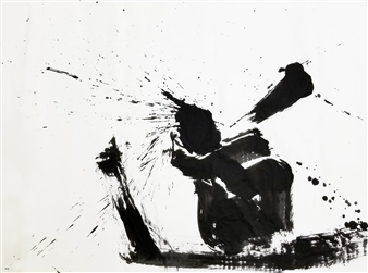 Hiroshi Wada (和田 浩志) - WAY_01 Japanese Calligraphy on Paper, Paintings
