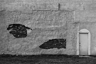 Paris Gray - Exposed Brick Wall Photograph on Fine Art Paper, Photography