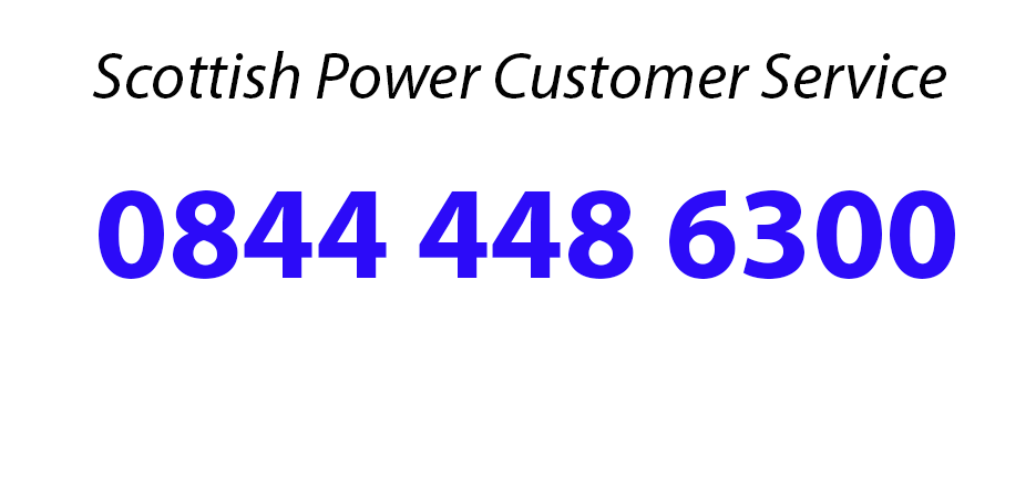 Contact Scottish Power through the Scottish Power Customer Service Number On 0844 448 6300