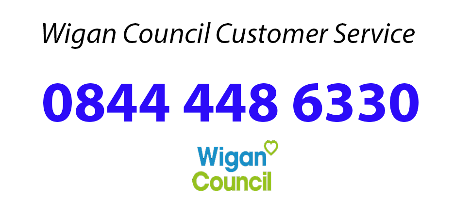 Contact Wigan Council through the wigan Customer Service Number On 0844 448 6330