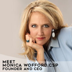 Monica Wofford, CSP founded Contagious Companies in 2003 and is an award winning professional speaker, author, trainer, coach and consultant.