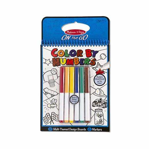 COLOR BY NUMBER COLORING PAD