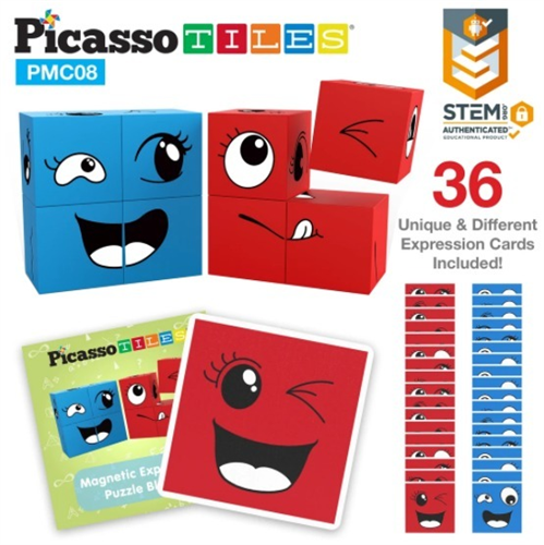 MAGNETIC EXPRESSION PUZZLE BLOCKS