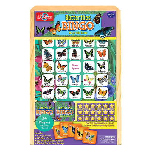 Butterfly Bingo Wooden Magnetic Game