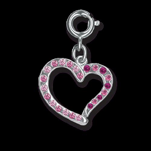 Swirl Heart Charm