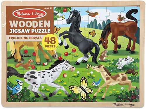 Rompecabezas madera caballos
