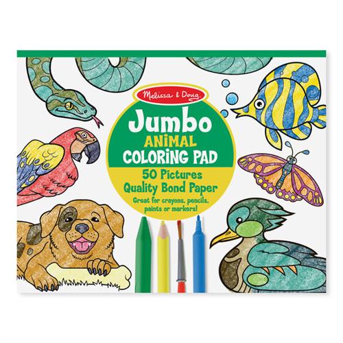 Block gigante para colorear animales