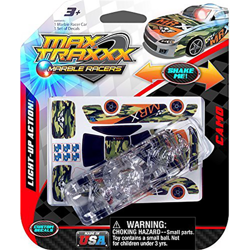 Max Traxxx Marble Racers light up camu