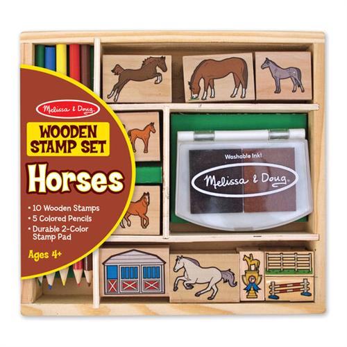 Juego de sellos de caballos