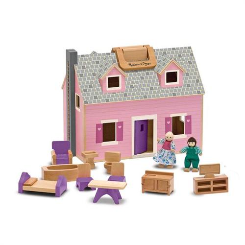 Casa de munecas plegable y portatil