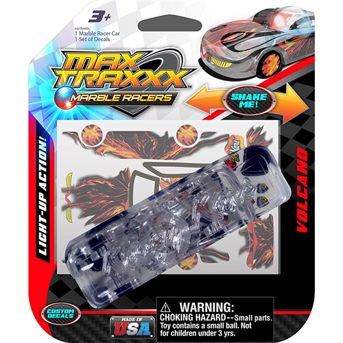 Max Traxxx Marble Racers light up volcano