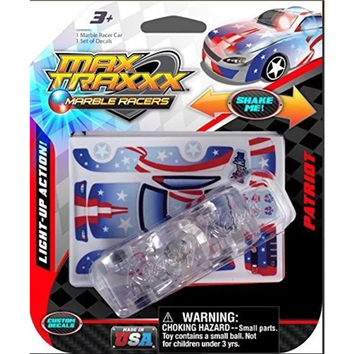 Max Traxxx Marble Racers light up patriot