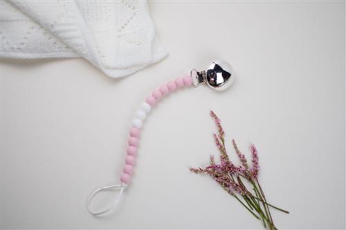 clip plata silicon rosa