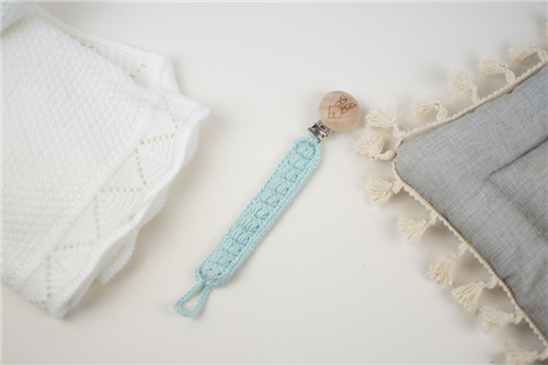 clip crochet azul bebe