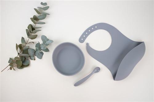 set de mesa gris