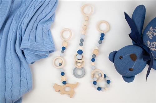 set de 3 colgantes azul marino canguro