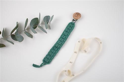 clip crochet verde pino