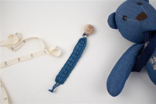clip crochet azul acero