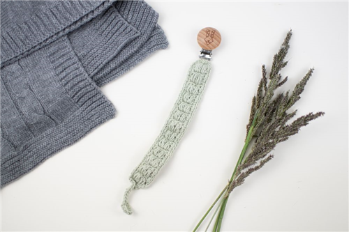 clip crochet verde olivo