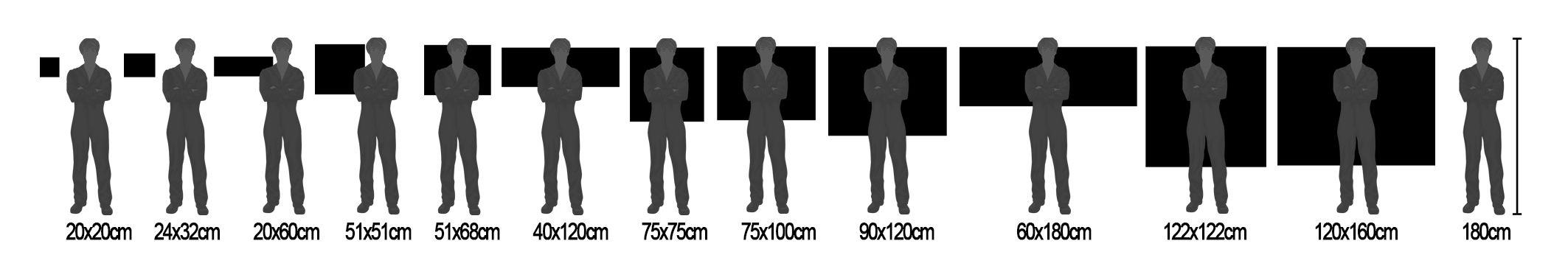 Cuadro comparativo de tamaños de impresión