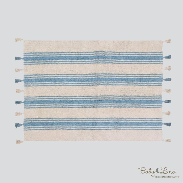 Tapete Rayas Azul Nilo