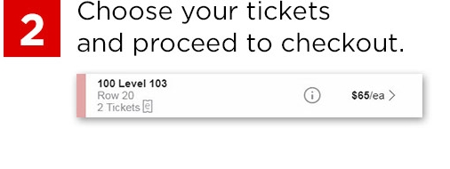 Select tickets and proceed to checkout