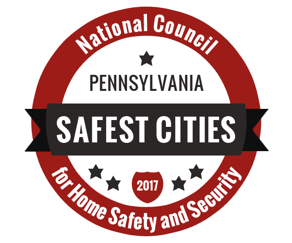 Adams Township named one of The Safest Cities in Pennsylvania by the National Council for Home Safety and Security