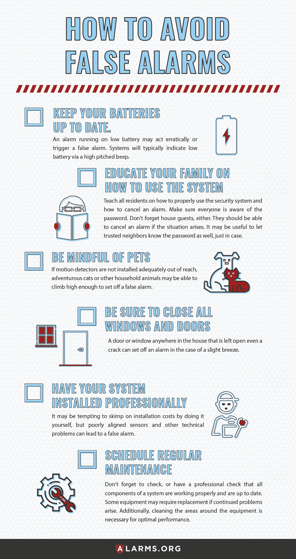 How to Avoid False Alarms Infographic