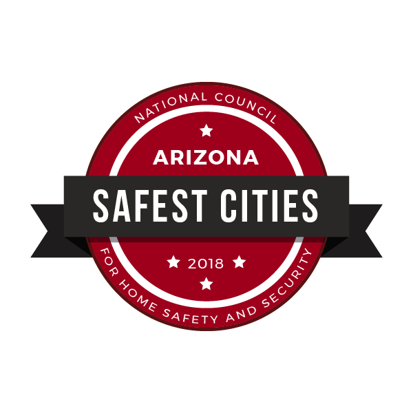 Safest Cities in Arizona, 2018