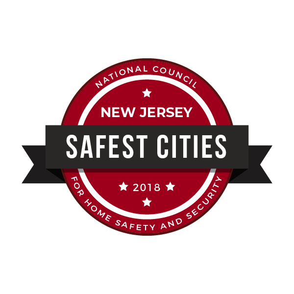 Safest Cities in New Jersey, 2018