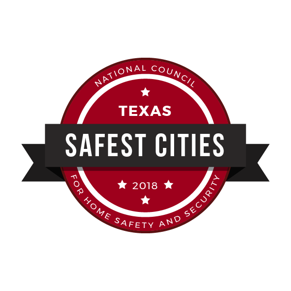 Safest Cities in Texas, 2018