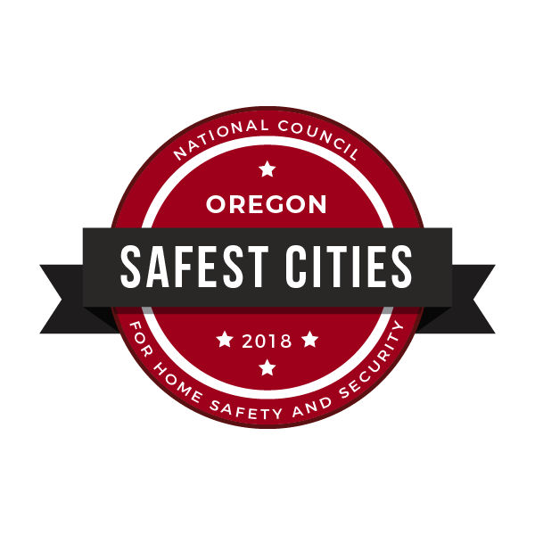 safe cities. badge oregon