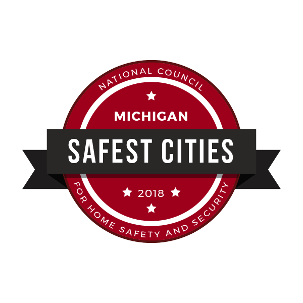 safest cities michigan badge 2018