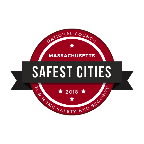 safest cities massachusetts badge 2018
