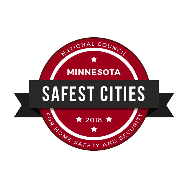 safest cities minnesota badge 2018
