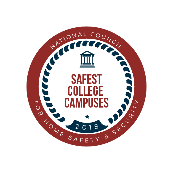 safest college campuses 2018 badge
