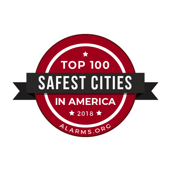 top 100 safe cities 2018 badge