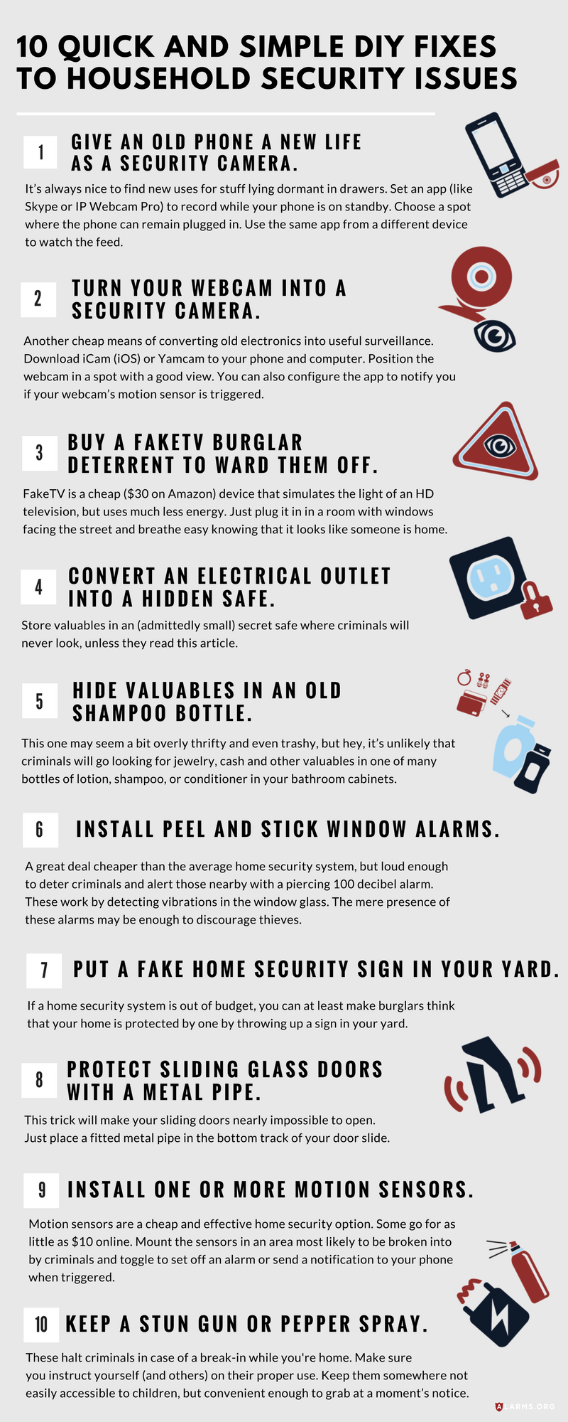 Infographic: 10 Quick and Simple DIY Fixes to Common Household Security Issues