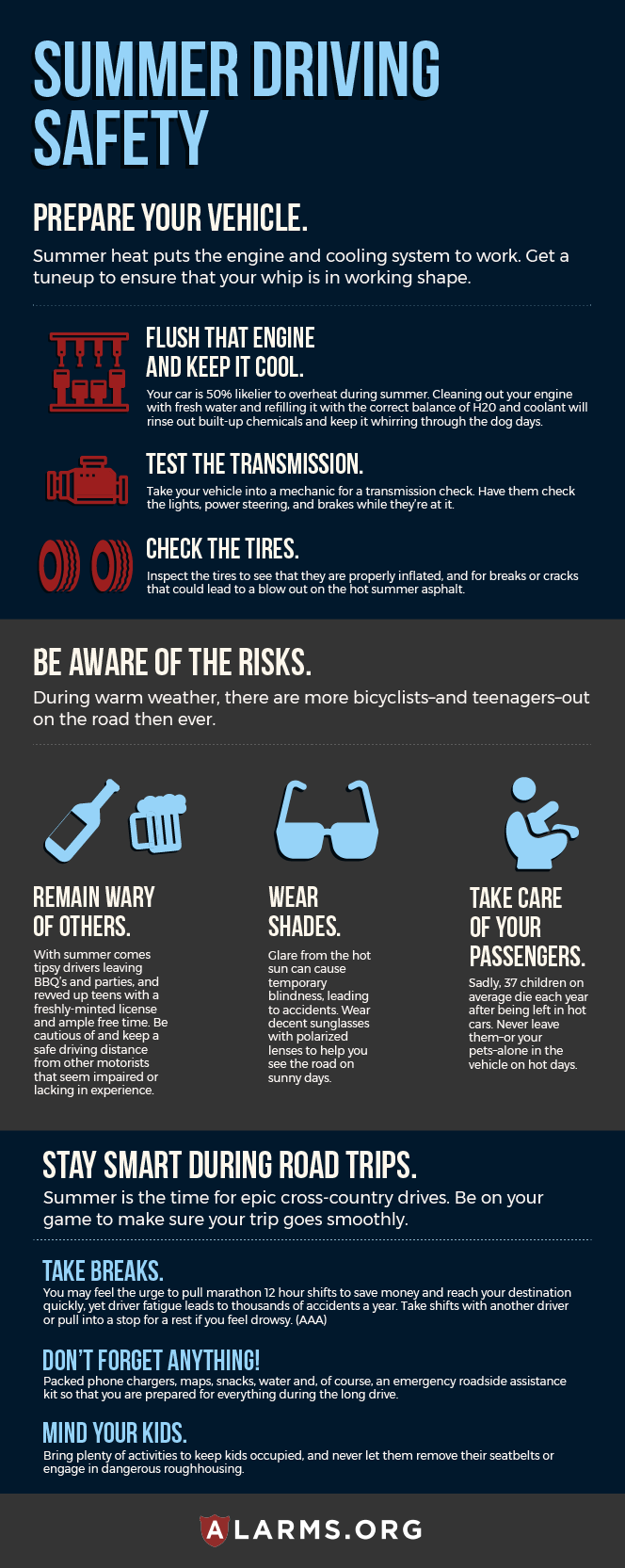 Infographic: Summer Driving Safety Tips