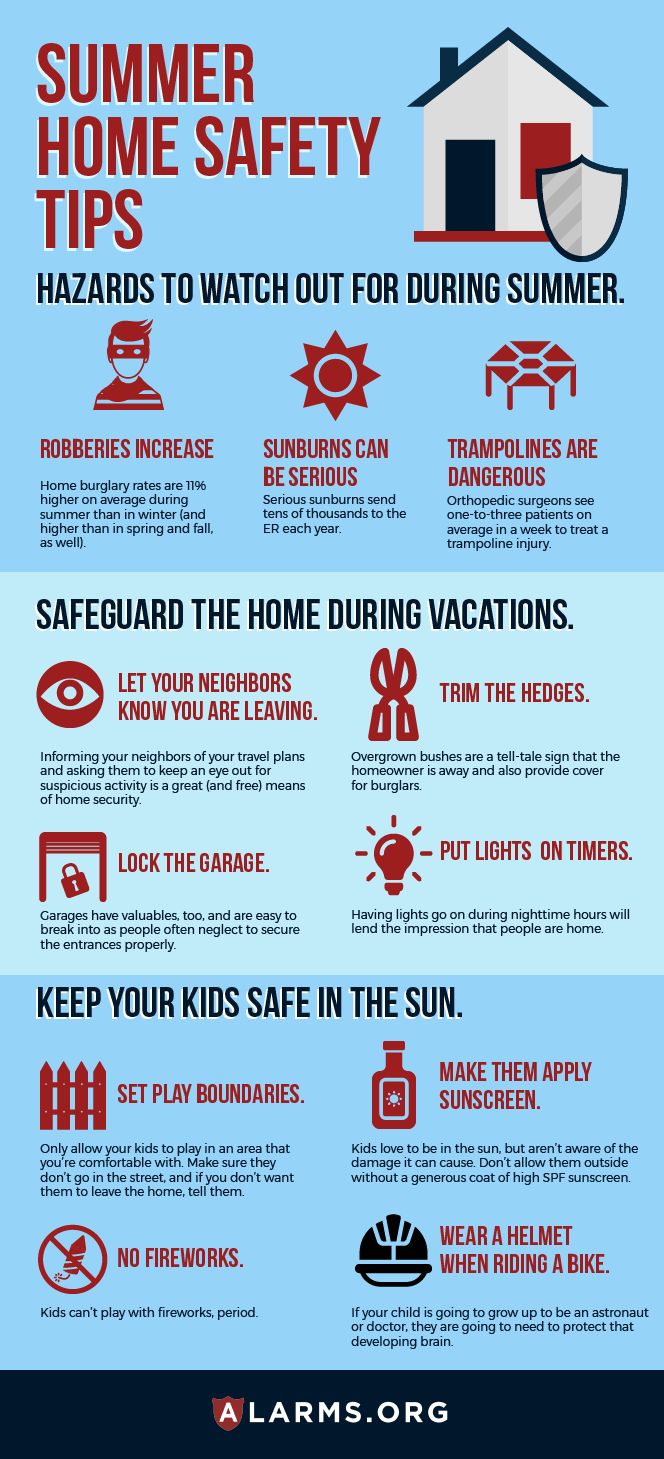 home summer safety infographic